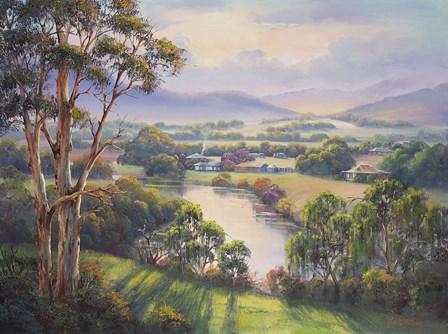 After The Rain - Morpeth by John Bradley art print