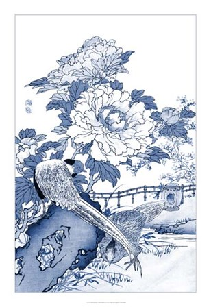 Blue & White Asian Garden II by Vision Studio art print