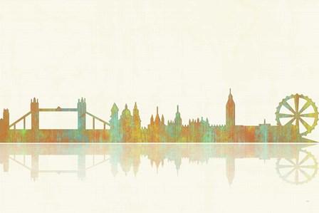 London GB Skyline 1 by Marlene Watson art print