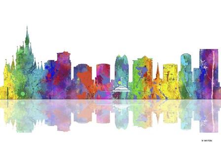 Orlando Florida Skyline 1 by Marlene Watson art print