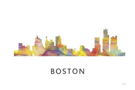 Boston Mas .Skyline by Marlene Watson art print