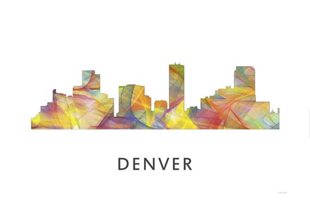 Denver Colorado Skyline by Marlene Watson art print