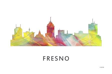 Fresno California Skyline by Marlene Watson art print