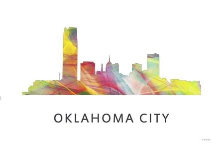 Oklahoma City Oklahoma Skyline by Marlene Watson art print
