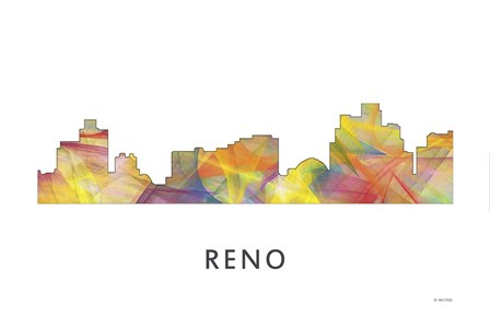 Reno Nevada Skyline by Marlene Watson art print