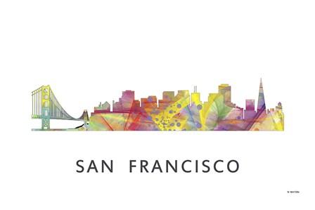 San Francisco California Skyline by Marlene Watson art print