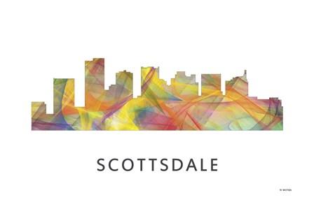 Scottsdale Arizona Skyline by Marlene Watson art print