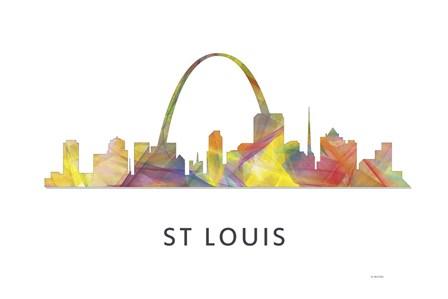 St Louis Missouri Skyline by Marlene Watson art print