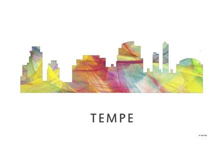 Tempe Arizona Skyline by Marlene Watson art print