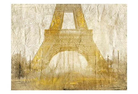 Eiffel Tower Gold by Kimberly Allen art print