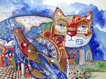 Cancer Cat by Oxana Zaika art print