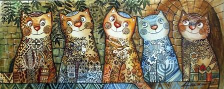 Cats Of Israel by Oxana Zaika art print