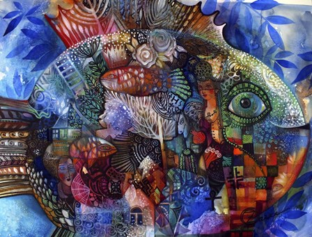 Fish by Oxana Zaika art print