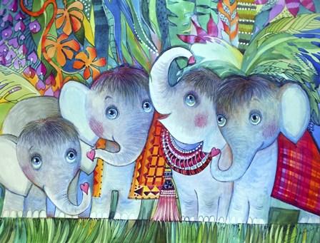Baby Elephant by Oxana Zaika art print