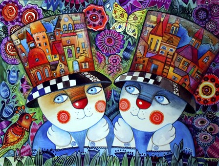 Twins by Oxana Zaika art print