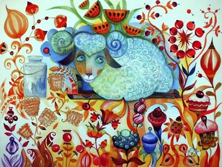 Candy Sheep by Oxana Zaika art print