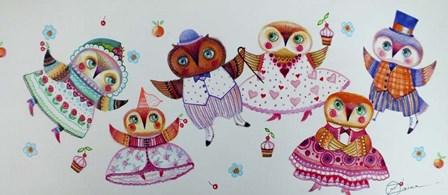 Owl Dance by Oxana Zaika art print