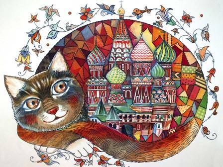 Red Cat by Oxana Zaika art print