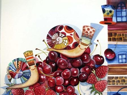 Snails by Oxana Zaika art print