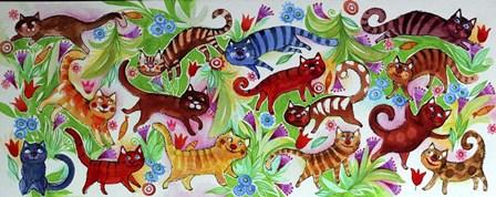 Magic Cats by Oxana Zaika art print