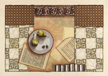 Bramshill House Pears by Rachel Paxton art print