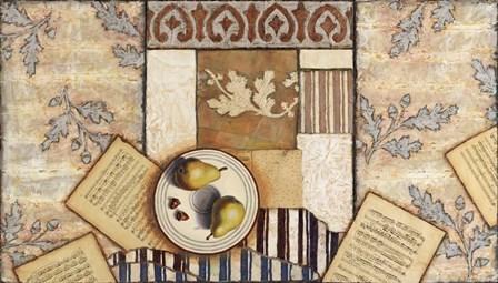 Pears Acorns & Oak Leaves by Rachel Paxton art print