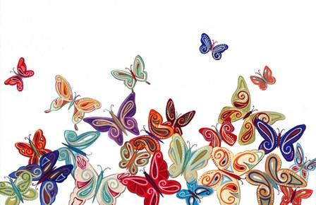 Butterflies by P.S. Art Studios art print