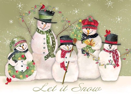 Let It Snow by P.S. Art Studios art print