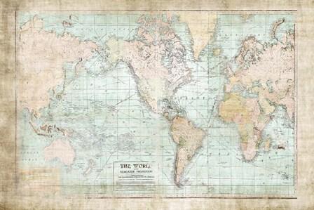 World Map Vintage 1913 by Ramona Murdock art print