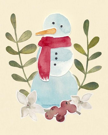 Snowman Cut-out I by Grace Popp art print