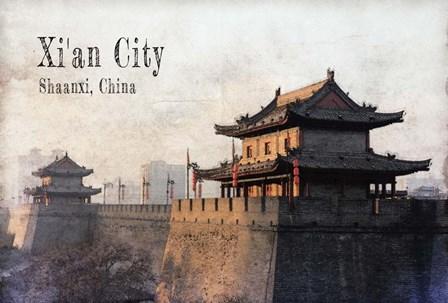 Vintage Xi'an City, China, Asia by Take Me Away art print
