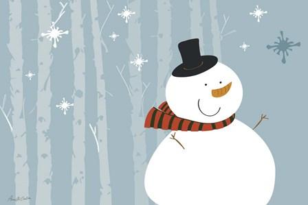 Happy Snowman by Anne Cote art print