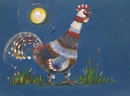 Coq A L'aube by Anne Cote art print