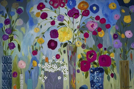 Floral Explosion by Carrie Schmitt art print