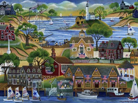 4th July Seaside Celebration by Cheryl Bartley art print