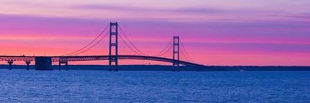Mackinac Bridge at Sunset, Michigan by Panoramic Images art print
