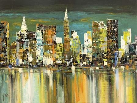 Le Mille Luci di New York by Luigi Florio art print