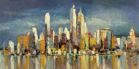 New York, riflessi del mattino by Luigi Florio art print