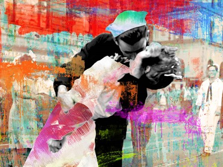 Kissing the War Goodbye 2.0 by Eric Chestier art print