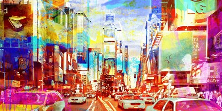 Times Square 2.0 by Eric Chestier art print