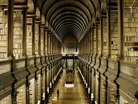 Interior of the Library, Trinity College, Dublin art print