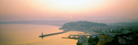 Sunset Cote d'Azur Nice France by Panoramic Images art print