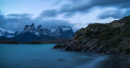 Lake with Mountain, Lake Pehoe, Torres de Paine National Park, Patagonia, Chile by Panoramic Images art print