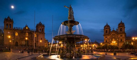 Fountain at La Catedral, Plaza De Armas, Cusco City, Peru by Panoramic Images art print