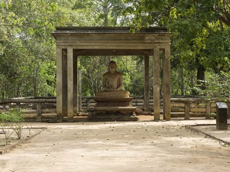 Samadhi Buddha (4th century), Meditation pose, Sri Lanka by Panoramic Images art print
