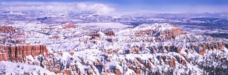 Snow Covered Bryce Canyon, Utah by Panoramic Images art print