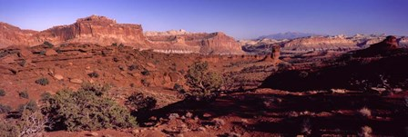 Scenic view of Capitol Reef National Park, Utah by Panoramic Images art print