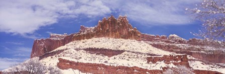 Snow Covered Cliff in Capitol Reef National Park, Utah by Panoramic Images art print