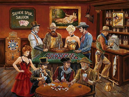 The Gambler's by Lee Dubin art print