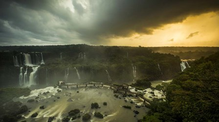 Devil's Throat Falls Under Stormy Skies, Brazil by Panoramic Images art print